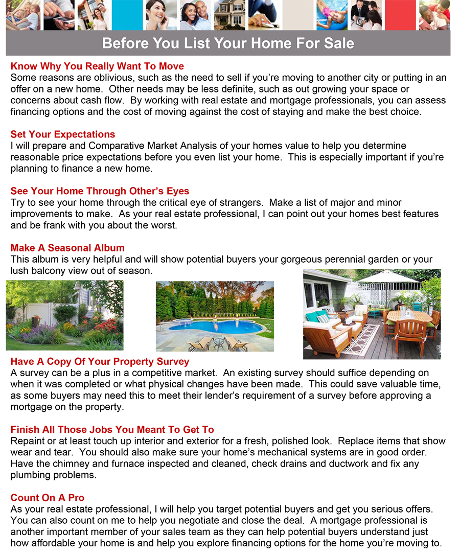 Selling Your Home - Before You List